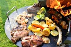 Hermapro Steakpfanne mit Grillgut